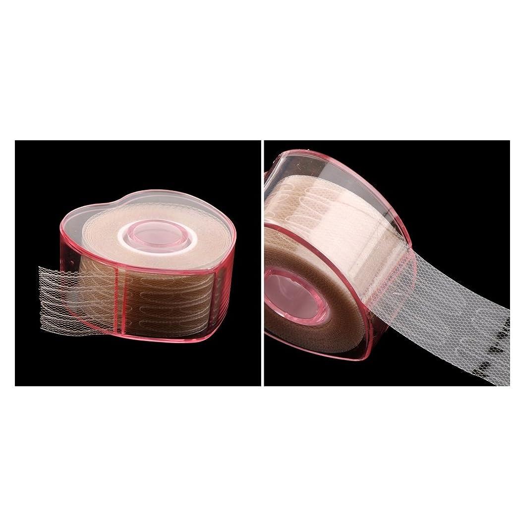 革命的寛容粘性のPerfeclan 2ロール まつ毛テープ 目に見えない 繊維 二重まぶた リフトストリップ テープ ステッカー