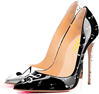 Women's High Heels Pumps Red Blood Printing Slip on Shoes