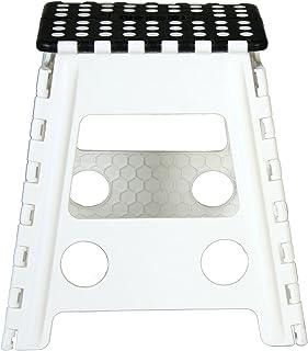 Cesar Taburete plegable blanco y negro 40X39X32 cm