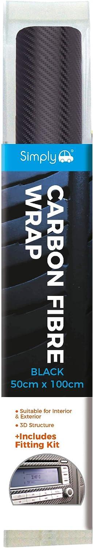 Topics on TV Simply CF-001 Vinyl Carbon Fibre Max 76% OFF Wrap 100 x 50 cm Black