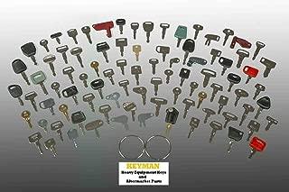 100 Keys Heavy Equipment Key Set/Construction Ignition Keys Set - 100 Different Keys