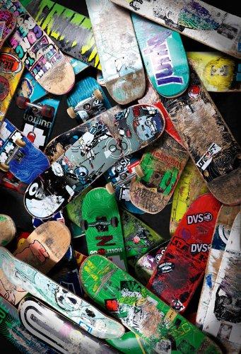 P171401-4 Foto-Tapete Vlies-Wandbild Skateboards gebraucht benutzt zerkratzt