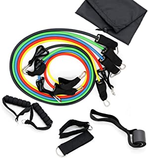 11PCS Resistance Bands Set Stackable Resistance Band For Women Gymnastics Band Stretch Training Elastic Band Pull Rope,for...