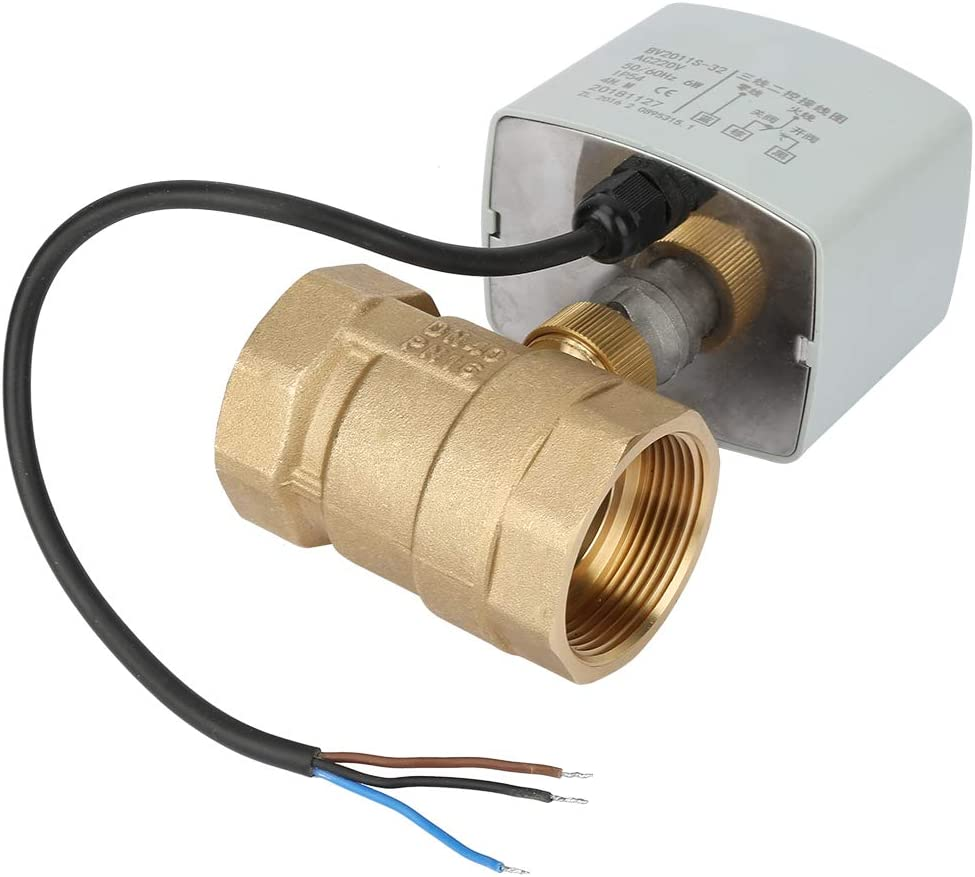 iFCOW Electric Ball Valve AC220V DN40 Max 73% OFF E 1-1 2-Way 3-Wire Brass free 2