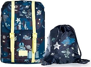 حقيبة ظهر للبنات والأولاد ، خفيفة الوزن حماية للعمود الفقري حقائب مدرسية للكتب للفتيات المراهقات تأتي مع حقيبة برباط