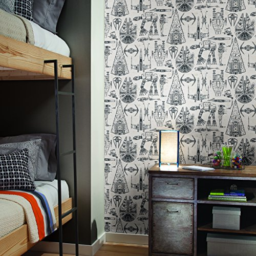 RoomMates Star Wars Blueprint Peel and Stick Wallpaper