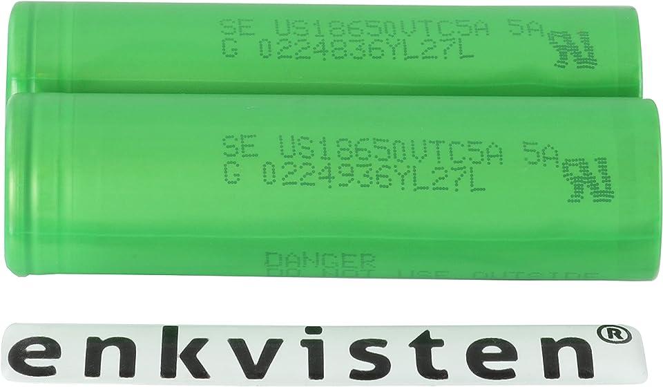 2 Konion S0NY VTC5a 18650 2600 mAh Akkus für eZigarette Batterien Akku Dampfen Akkus für dampfer + Akkubox