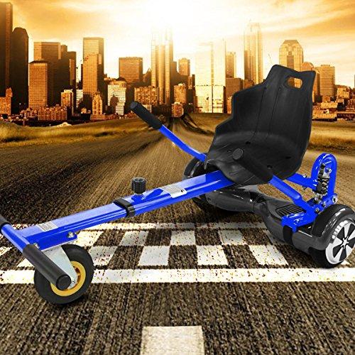 "Viron Hoverkart mit LED-Beleuchtung für Hoverboard E-Scooter Hover Seat GoKart Self Balance Scooter Sitz (6,5\"" / 8,0\"" / 10\"") verstellbar (blau)"