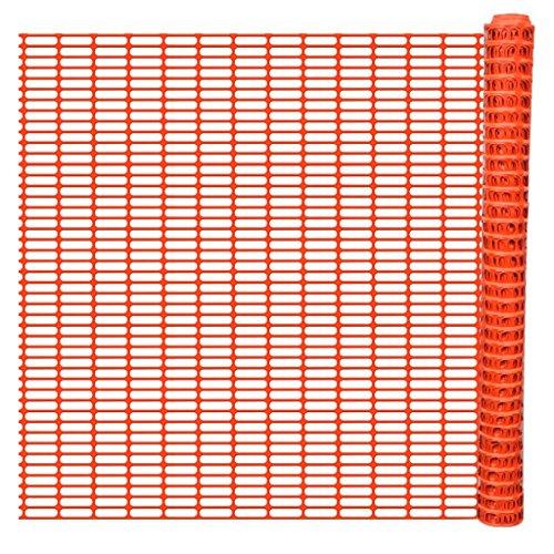 vidaXL Rollo de Malla de Seguridad de Plástico Naranja 50 m Valla Temporal