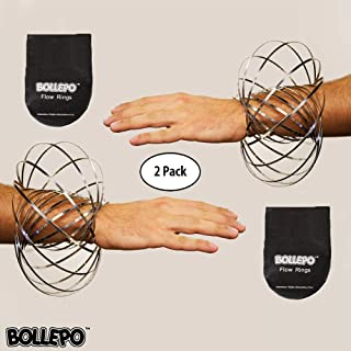 Flow Ring Kinetic 3D Spring Toy Sculpture Ring Game Toy for Kids Boys and Girl (2 Pack)