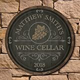 Beauteous Barrel Personalized Wine Cellar Sign by HomeWetBar - Great Gift for Wine Lovers