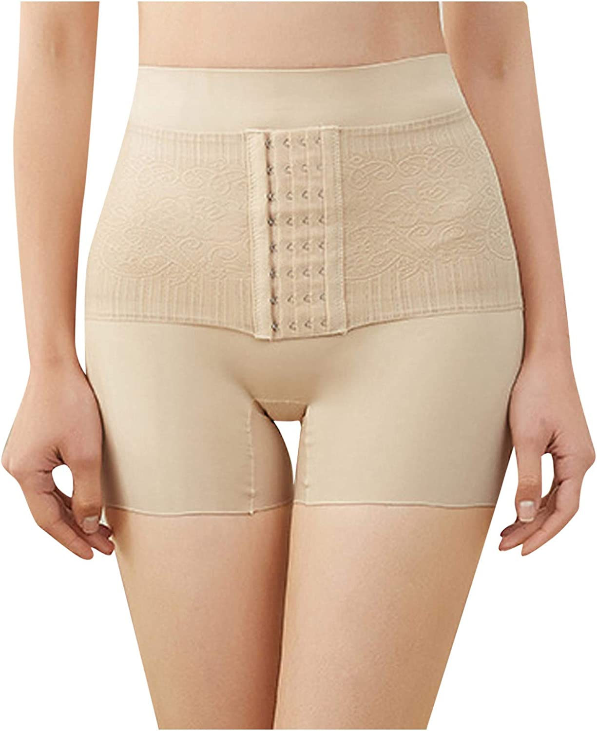 Women's High-waisted Shaping Shorts Abdomen Sexy Leaky Butt Shaping Pants Tummy Control Slim Belly Band for Weight Loss
