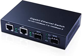4-Port Gigabit Ethernet Fiber Switch, with two SFP slots (1000M), without Transceiver