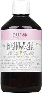 500 ml Echtes Rosenwasser Bio Organic Rose Water 100% naturreines Rosen-Hydrolat