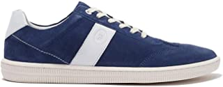 Modern Fiction Men's Shoe Metaphor Casual Lightweight Suede Fashion Sneaker. Stylish Low Top with Mix Material Details, a Breathable Textile Lining, and Durable Non-Slip White Rubber Outsole.