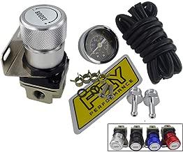 Took09 General Adjustable Manual Gauge Turbocharger Regulator Controller 1-150 psi SR20DET Silver