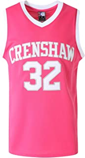 MOLPE Wright 32 Crenshaw Basketball Jersey S-XXXL, 90S Hip Hop Clothing for Party, 2-Layer Stitched Letters and Numbers