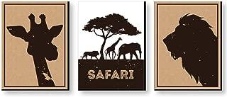 Big Dot of Happiness Wild Safari - Jungle Animal Nursery Wall Art, Kids Room Decor and Home Decorations - Christmas Gift Ideas - 7.5 x 10 inches - Set of 3 Prints