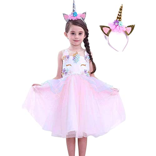 8de7cdf926aa FREEFLY Kids Girls Unicorn Christmas Party Fancy Dress for Cosplay Festival  Performance Birthday Wedding Carnival Photo