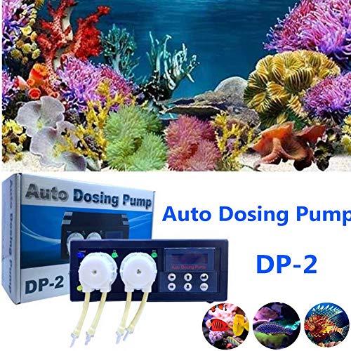 Laecabv Auto Dosierpumpe Aquarium Auto Dosing Pump Aquarium Pumpen Automatische Dosierpumpe (DP-2)