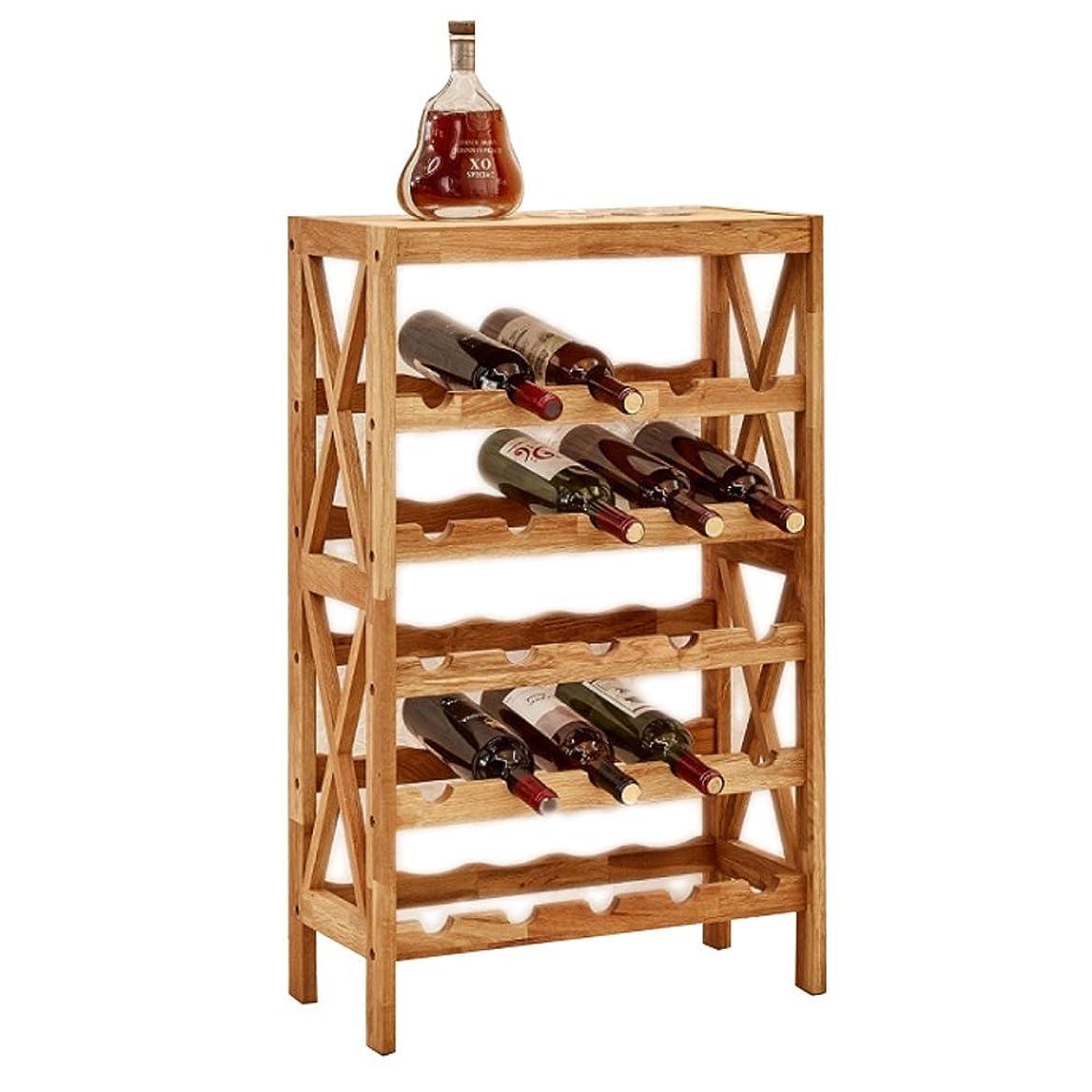 帳面慢性的思想ワインラックの純木のワインの陳列台棒ワインのキャビネット、床の格子棚 - 5つの層、8つの層 (設計 : 5 layers)