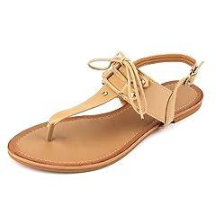 509e80883 MuDan Womens Roman Gladiator Sandals Flats Thongs