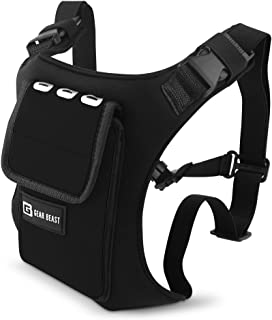 Gear Beast Running Backpack Vest Cell Phone and Accessories Holder Lightweight Pack Key Card ID Holder for Running Walking Cycling Fits iPhone X 8 7 6s 6 Plus Galaxy S9 Plus S9 S8 Plus S8 S7 Note 8