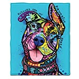 Dawhud Direct Rescues are My Favorite Breed Super Soft Plush Fleece Throw Blanket by Dean Russo