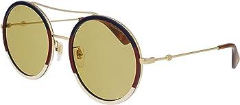 Gucci Brown Round Ladies Sunglasses (GG0061S 015 56)