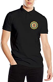 American Legion Logo Fashion Classic Mens Polo Shirt Short Sleeve Golf Shirts