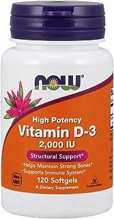 Now Foods Vitamin D-3, 2,000 IU, Softgels, 120ct