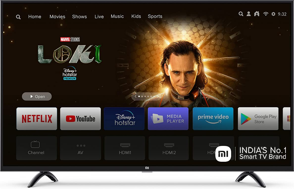 Mi 108 cm (43 Inches) 4K Ultra HD Android Smart LED TV 4X|L43M4-4AIN (Black) 1