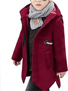 ZUOMAボーイズ ラシャコート チェスターコート ロングコート 綿入れ上着 オーバーコート