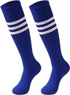 Unisex Striped Tube Socks,2/6/10 Pairs Knee High Soccer Football Volleyball Baseball Cheerleading Team Socks
