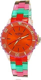 Cool NY London Rainbow Plastic Watch Colorful Plastic Ladies Bracelet Watch Boys Girls Wrist Watch Orange Red Green Blue Yellow Including Watch Box