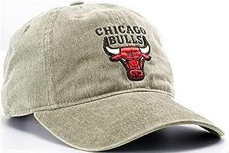 Mitchell & Ness Chicago Bulls NBA Blast Wash Tan Khaki Slouch Relaxed Hat Cap Adult Men's Adjustable Strapback
