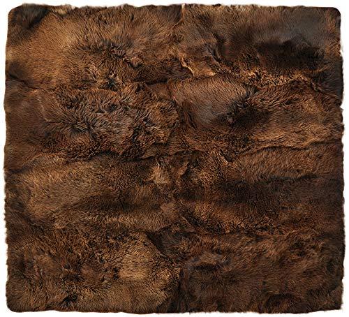generisch PHc - Alfombra de Pelo de Cordero (200 x 200 cm, 8 Unidades), Color marrón