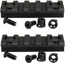 PANOVO 2 inch 5 Slot Keymod Picatinny Rail Base Section for Key Mod Mount Rail System Converter Adapter