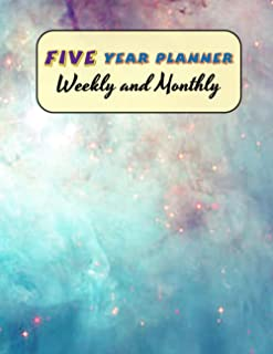 Five Year Planner Weekly and Monthly: Academic Writing for To Do's and Appointments Goal and Productivity - Five Year Unda...