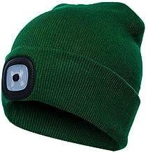 Breeezie Bonnet Tricot/é avec 4 LED Lumi/ère 3 Fichiers Luminosit/é /Éclairage /à Piles /Éclairage Beanie Cap Chapeaux P/êche en Plein air Course Escalade V/êtements Accessoires