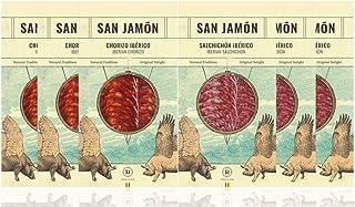 San Jamon Lote Chorizo y Salchichón Ibéricos Loncheados