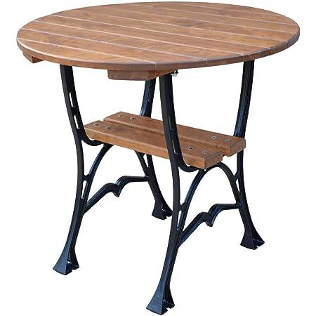 Amazon De Krakwood Runder Gartentisch Runder Esstisch Aus Holz Im Freien Deluxe