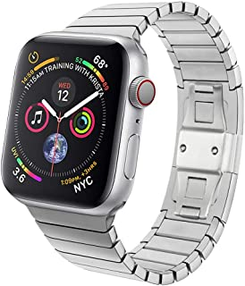 Accessory for Apple Watch 4 Halloween Hot Sale!!Natarura Butterfly Buckle Stainless Steel Strap Watchband for Apple Watch Series 4 44MM/40MM