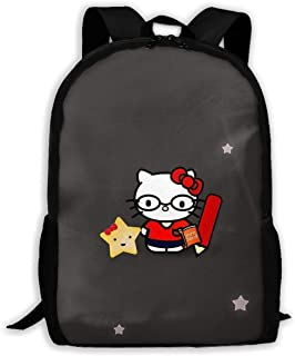 CHLING Lightweight Backpack Briefcase Laptop Shoulder Bag Hello Kitty Work Hard Classic Basic Water Resistant Daypack