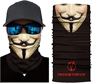 JSJCHENG Face Mask Seamless Neck Gaiter Shield Scarf Bandana UV Protection for Motorcycle Cycling Riding Running Headbands