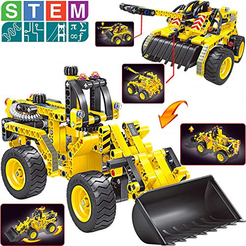 Gili Building Toys Gifts for Boys & Girls Age 6yr-12yr (Bulldozer & Tank), Construction Engineering Set for 7, 8, 9, 10 Year Old Kids Christmas Birthday, Best Educational STEM Learning Kits