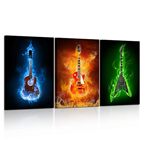 ABSTRACT DESIGN MUSIC INSTRUMENTS CANVAS PRINT WALL ART PICTURE READY TO HANG