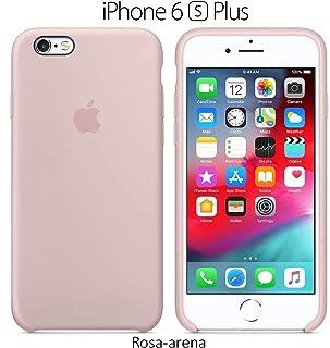 Funda Silicona para iPhone 6 Plus y 6s Plus Silicone Case, Calidad, Textura Suave, Forro Interno Microfibra (Rosa-Arena)