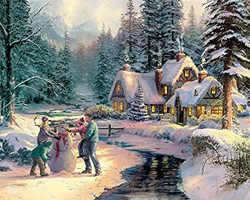 Houten puzzel 500 stuk voor volwassenen 3D klassieke puzzel Kinderen maken sneeuwpop Diy Educatieve puzzel Home Decor Uniek cadeau-53X38Cm