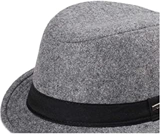 AiHua Huang Korean Fashion Belt Short Cap Fedora Hat Vintage British Cap Men And Women Tide Autumn And Winter Wild Casual Jazz Hat